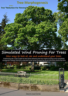 Simulated tree pruning front cover